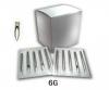 100 Профессиональные иглы для пирсинга от 18G до 6G